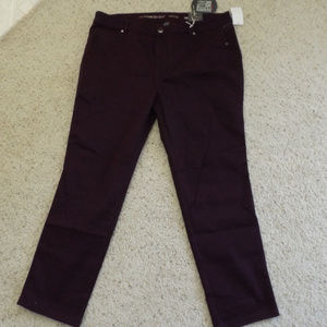 Dark plum butter skinny jeans